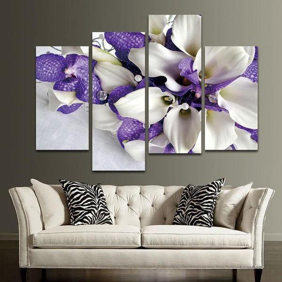Blue Flowers Wall Art Print