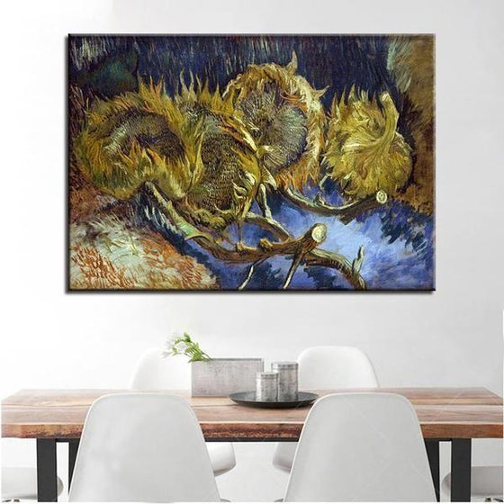 Blumen In Blauer By Vincent Van Gogh Canvas Print Wall Art Dining Room