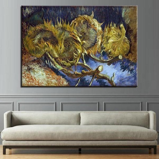 Blumen In Blauer By Vincent Van Gogh Canvas Print Wall Art Living Room