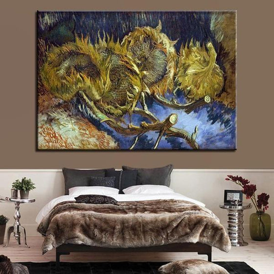 Blumen In Blauer By Vincent Van Gogh Canvas Print Wall Art Bedroom