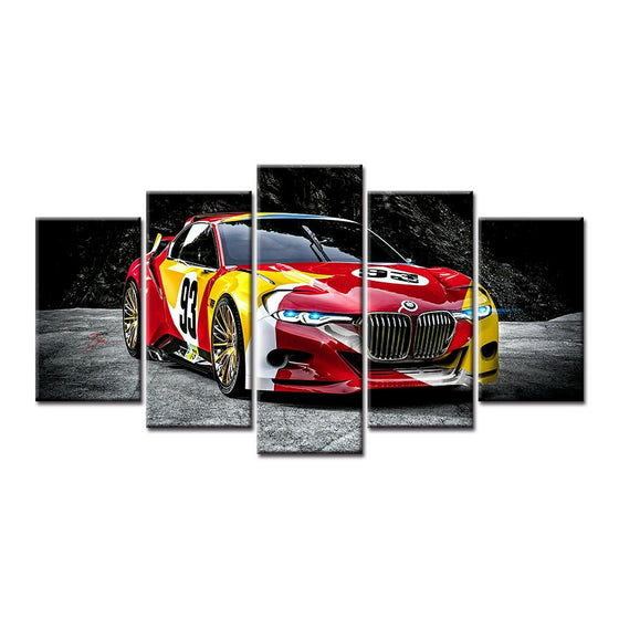 Red Race Car Canvas Wall Art Idea