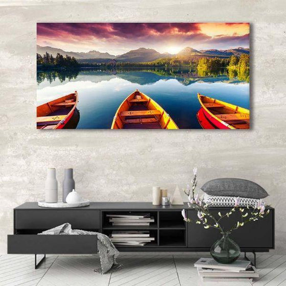 Boats To The Forest Wall Art Decor