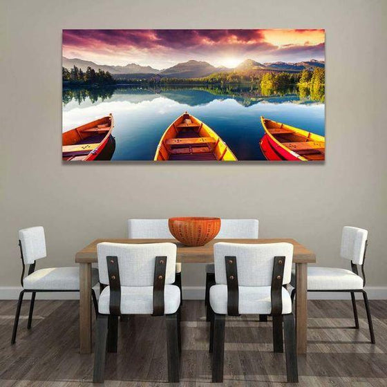 Boats To The Forest Wall Art Dining Room