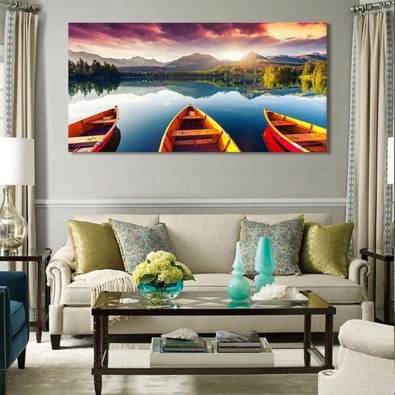 Boats To The Forest Wall Art Living Room