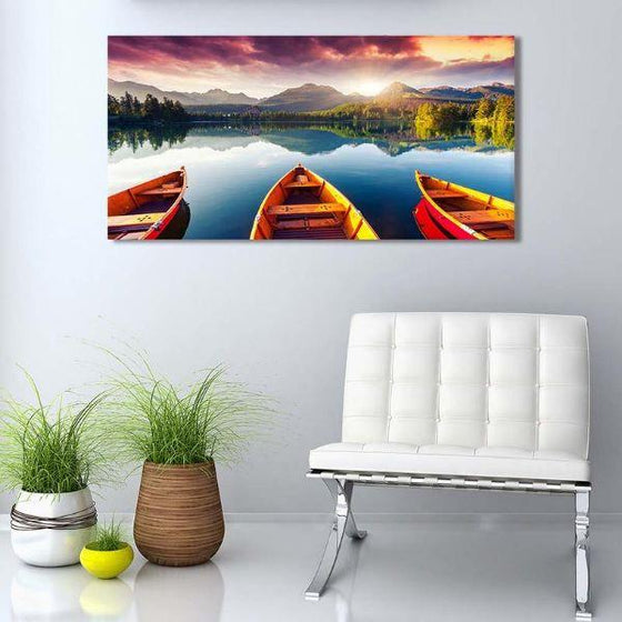 Boats To The Forest Wall Art Print