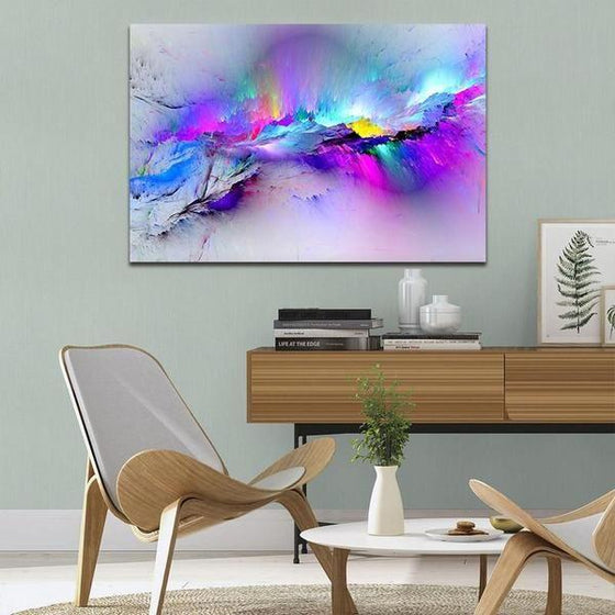 Bright Colorful Abstract Canvas Wall Art Bedroom