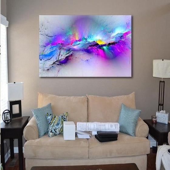 Bright Colorful Abstract Canvas Wall Art Decor