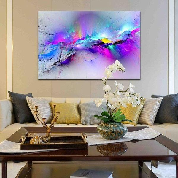 . Bright Colorful Abstract Canvas Art