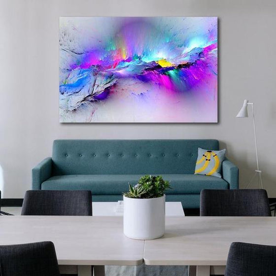 Bright Colorful Abstract Canvas Wall Art Print