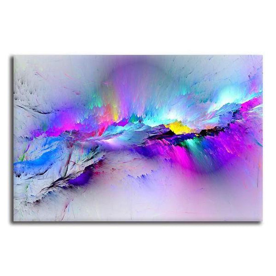 Bright Colorful Abstract Canvas Wall Art