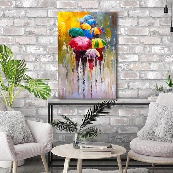 Bright Colorful Umbrellas Canvas Wall Art Decors