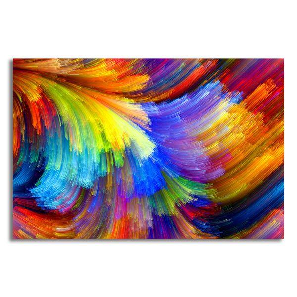 Bright Colors Abstract Canvas Art