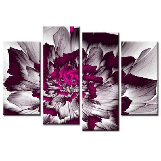 Bright Purple Peony Canvas Wall Art Prints