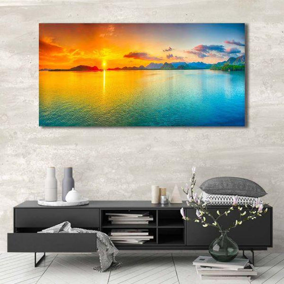 Bright Sunrise Sea View Canvas Wall Art Ideas
