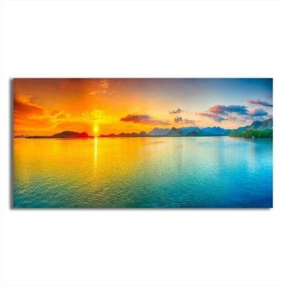 Bright Sunrise Sea View Canvas Wall Art