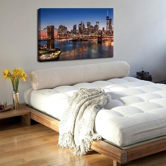Brooklyn Bridge Night View Wall Art Bedroom