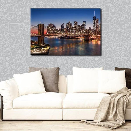 Brooklyn Bridge Night View Wall Art Decor