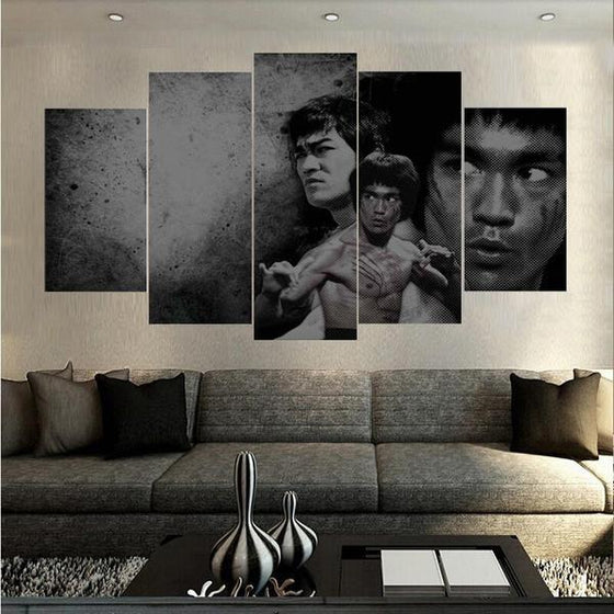 Bruce Lee Martial Arts Canvas Wall Art Living Room