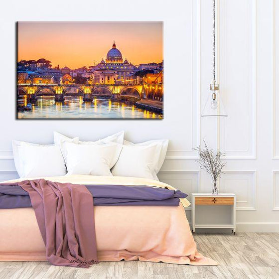 Budapest Castle Canvas Wall Art Bedroom