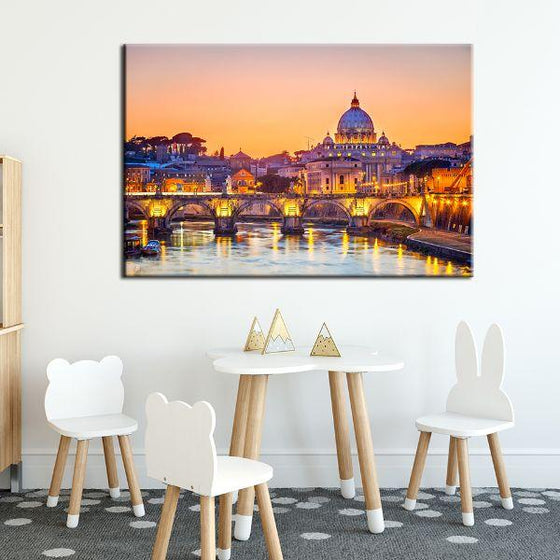 Budapest Castle Canvas Wall Art Decor