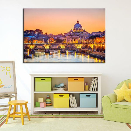 Budapest Castle Canvas Wall Kids Room