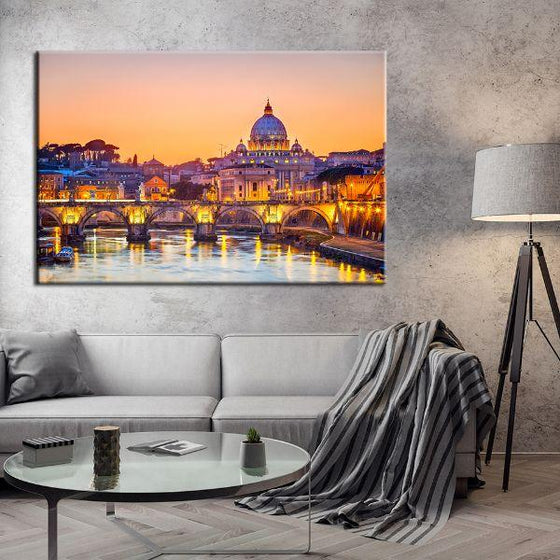 Budapest Castle Canvas Wall Art Living Room