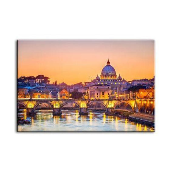 Budapest Castle Canvas Wall Art