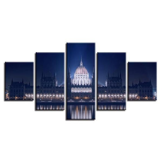 Budapest Parliament Building Canvas Wall Art Decor