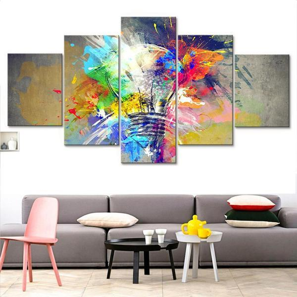 Bulb Abstract Wall Art Canvas