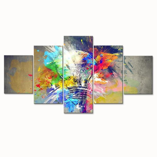 Bulb Abstract Wall Art Decor