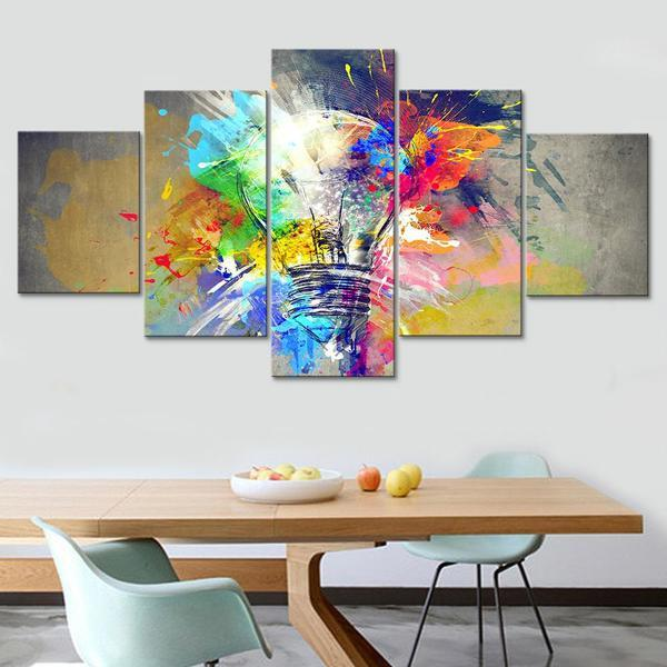 Bulb Abstract Wall Art