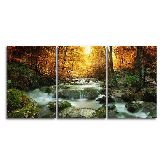 Calm Forest Water Canvas Wall Art