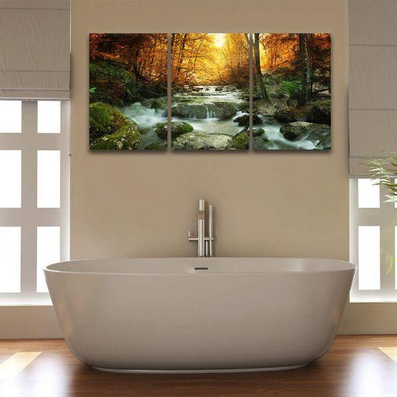 Calm Forest Water Canvas Art
