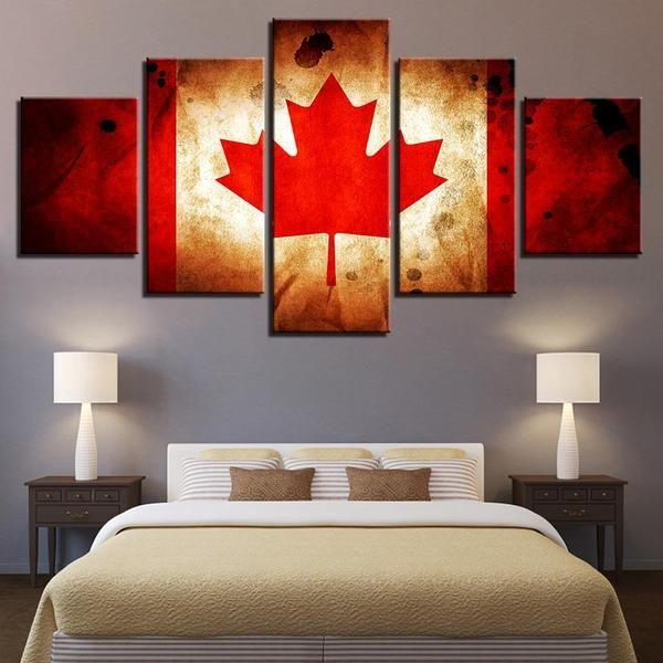 Canadian Flag Wall Art Canvas