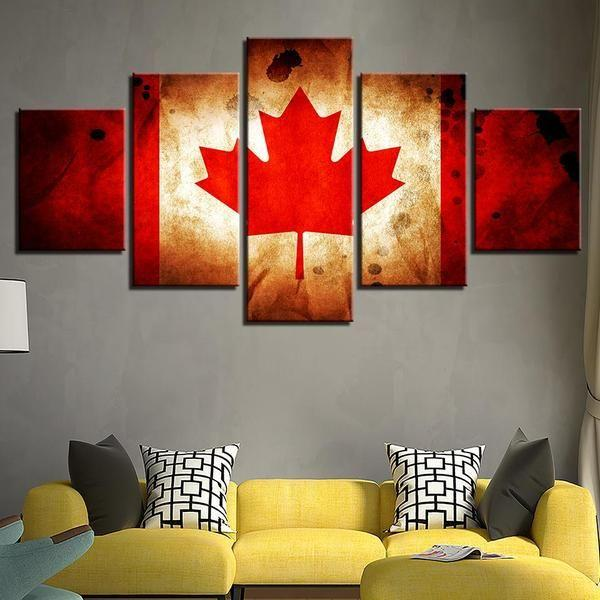 Canadian Flag Wall Art Decor