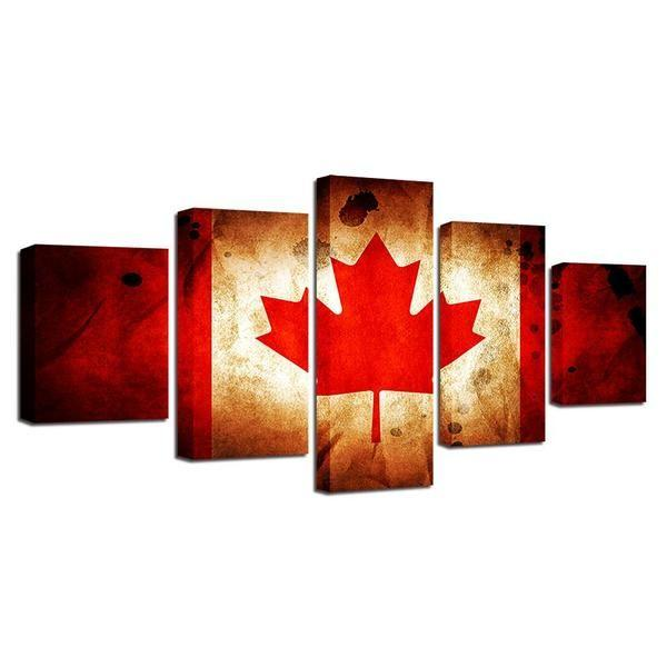 Canadian Flag Wall Art Idea