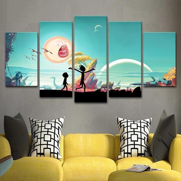 Canvas Prints Rick And Morty Decor