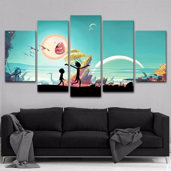 Canvas Prints Rick And Morty Idea