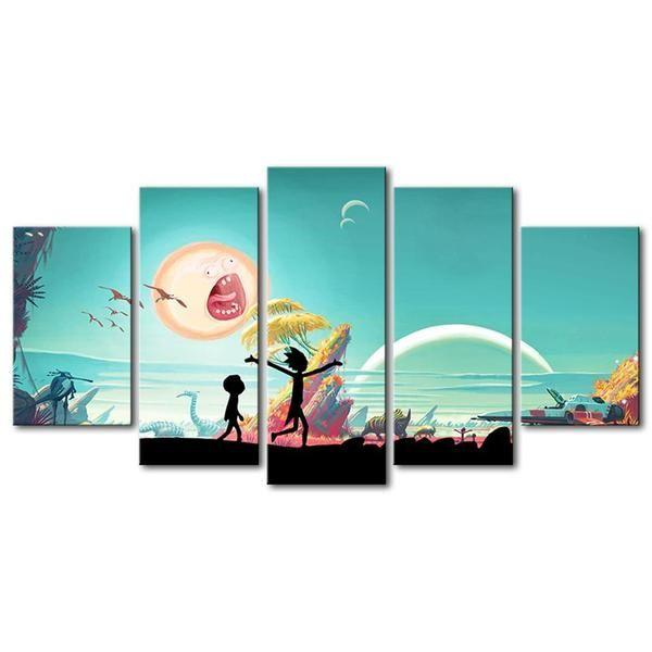 Canvas Prints Rick And Morty Print