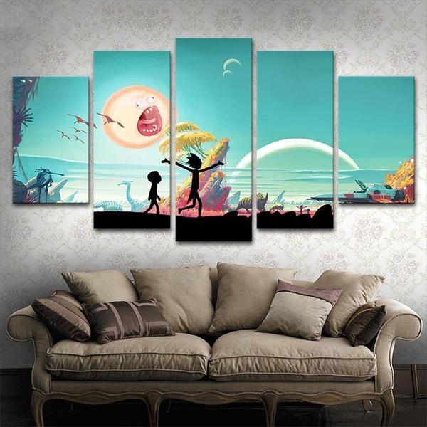 Canvas Prints Rick And Morty