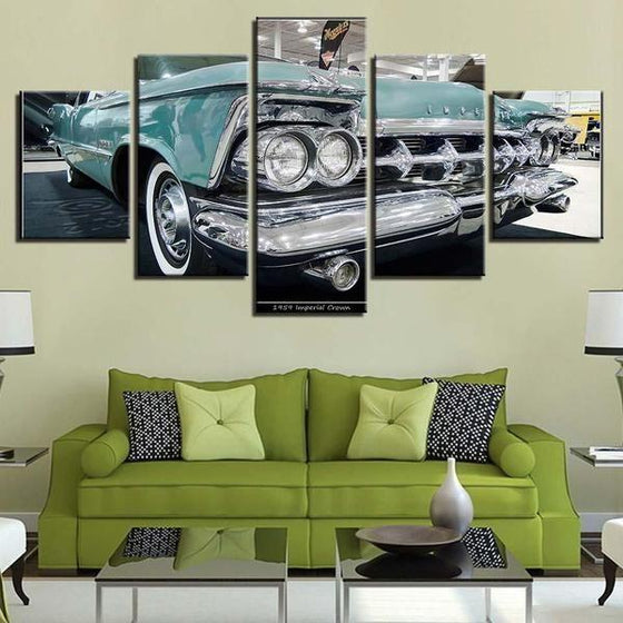 1959 Imperial Crown Canvas Wall Art Living Room