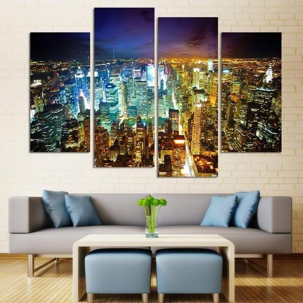 Canvas Wall Art City Print