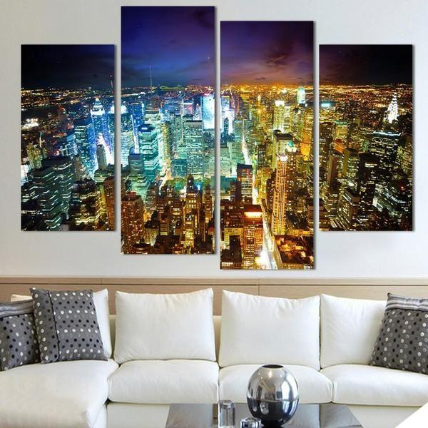 Canvas Wall Art City Prints