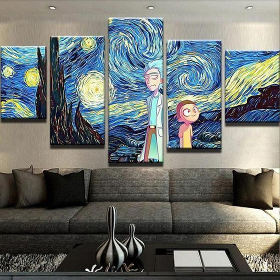 Canvas Wall Art Rick And Morty Print
