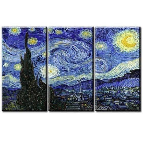 Canvas Wall Art Van Gogh Starry Night