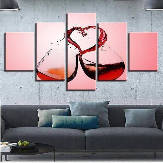 Celebrate Love With Wine Canvas Wall Art Living Room Ideas