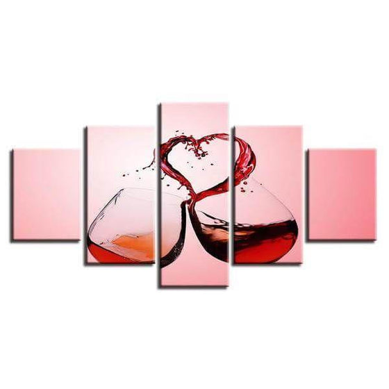 Celebrate Love With Wine Canvas Wall Art Ideas