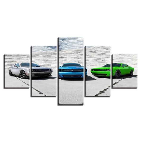 Dodge Muscle Cars Canvas Wall Art | Classic Cars Canvas Sets ...