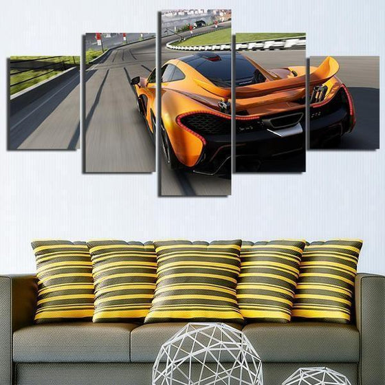 Forza Motorsport Orange Car Canvas Wall Art Living Room