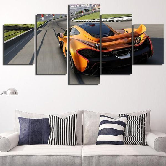 Forza Motorsport Orange Car Canvas Wall Art Decor